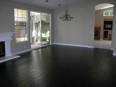 Black Hardwood Floor To Match Stone Fireplace Grey Yellow White Decor Flooring