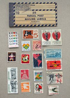 Inspiration: Vintage Stamps and Mailing Labels