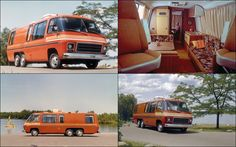 In late the General Motors' Truck and Coach Division debuted their GMC motorhome. Vintage Motorhome, Gmc Motorhome, Vintage Rv, Vintage Trailers, Gmc Motors, Retro Campers, Vintage Campers, Classic Gmc, Cool Rvs