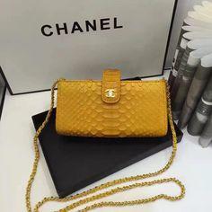 Chanel new style Dinner package dark yellow black Chanel News, New Bag, Yellow Black, Real Leather, Shoulder Bag, Bags, Dinner, Style, Handbags