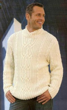 Beat the chilly weather and look fashionable with a black cardigan. Outfits Casual, Mode Outfits, Cable Knitting, Hand Knitting, Knitting Designs, Knitting Patterns, Sweater Cardigan, Men Sweater, Men Looks