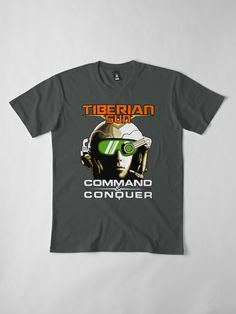 """""""Tiberian Sun Commander"""" T-shirt by Remus Brailoiu Command And Conquer, Real Time Strategy, My T Shirt, Tshirt Colors, Cool T Shirts, Cnc, Chiffon Tops, Video Game, Classic T Shirts"""
