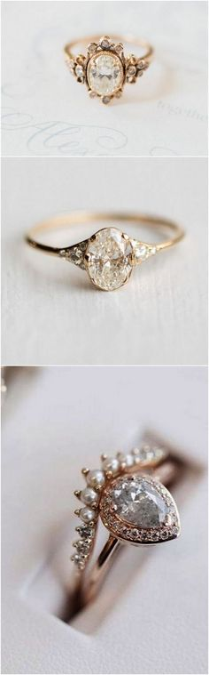 20 Vintage Engagement Rings That Will Melt Your Heart - 20 Vintage Engagement Rings That Will Melt Your Heart stunning vintage wedding engagement rings 6 Vintage Engagement Rings, Vintage Rings, Wedding Engagement, Wedding Bands, Wedding Gloves, Vintage Heart, Bling Bling, Jewelry Rings, Jewelery