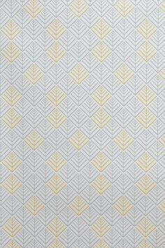papier peint vinyle encollable motif gomtrique jaune et bleu - Papier Peint Bleu Geometrique