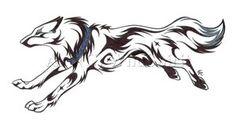 Running Wolf Tattoo Commission by WildSpiritWolf