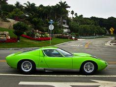 a ridiculously beautiful green Lamborghini Miura Lamborghini Miura, Green Lamborghini, Sexy Cars, Hot Cars, Car Photos, Exotic Cars, Motor Car, Concept Cars, Luxury Cars