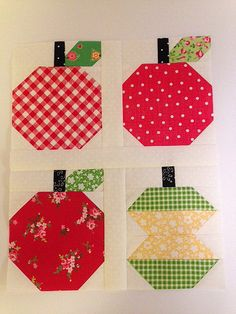 Quilty Fun Sew Along - Apples by Greg at Grey Dogwood Studio. Pattern by Lori Holt.