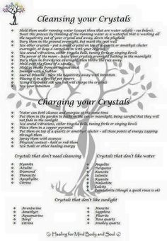 Crystals Stones:  Cleansing and Charging Your #Crystals.