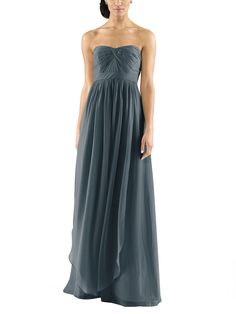 Description - Jenny Yoo Aidan - Full length bridesmaid dress - Strapless, pleated sweetheart neckline - Convertible style with long chiffon panels - Natural waistline - Luxe chiffon Long The Jenny Yoo