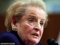 """Madeleine Albright: """"There's a special place in Hell for women who don't help each other."""""""
