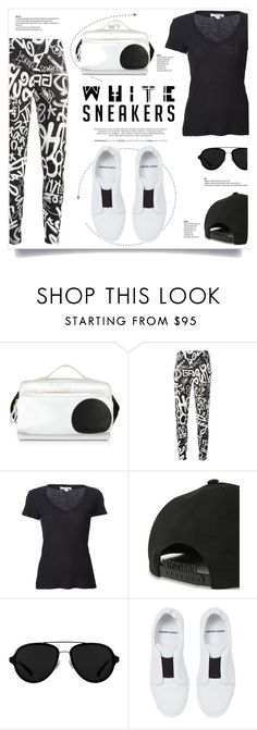 """""""White Sneakers"""" by kiki-bi ❤ liked on Polyvore featuring Pierre Hardy, Moschino, James Perse, 3.1 Phillip Lim, blackandwhite, PierreHardy and whitesneakers"""