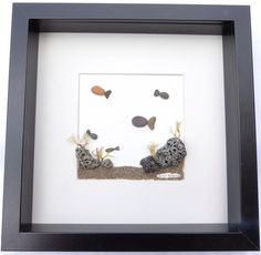 Scottish pebble art picture: Fish/underwater scene by PebblePictures on Etsy https://www.etsy.com/listing/236127830/scottish-pebble-art-picture