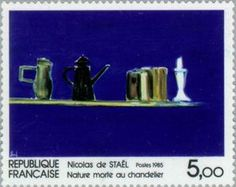 "Nicolas de Stael ""Still Life with Candlestick"""