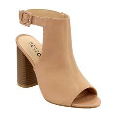Beston FH22 Women's Peep Toe Slingback Block Heel Ankle Bootie Sandals