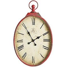 antiqued red wall clock