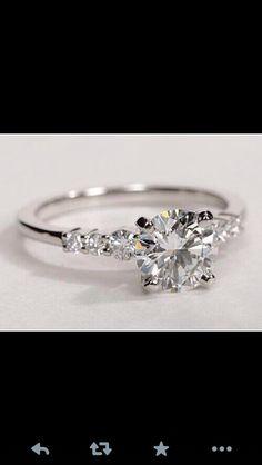Diamond Wedding Rings, Wedding Ring Bands, Diamond Engagement Rings, Side Stone Engagement Rings, Beautiful Engagement Rings, Engagement Ring Settings, Beautiful Wedding Rings, Dream Wedding, Wedding Bride