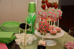 Pink/Lime Polka Dot Tree Sasha's Tree Hot Pink by ColorsOfMyLife