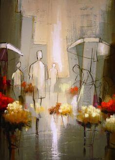 Fine Art and You: Claudio Caixeta | Brazilian Painter | Flower Market
