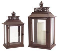 Park Avenue Collection Lantern (Set of 2)
