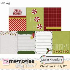 """FREE MyMemories Designers """"Christmas in July """" Train by Marie H designs"""
