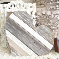 """Jovi""~ remember that piece of barn wood laden with bb pellets? Heart Decorations, Valentines Day Decorations, Valentine Day Crafts, Barn Wood Crafts, Scrap Wood Projects, Heart Crafts, Wooden Hearts Crafts, Pallet Art, Decor Crafts"