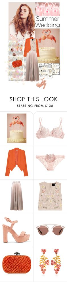 """Summer Weddings // You're the one I love, you're the one I need"" by poprostuzimna ❤ liked on Polyvore featuring Oris, Pixie, Agent Provocateur, Alice + Olivia, A.L.C., Needle & Thread, Paul Andrew, Christian Dior, Bottega Veneta and Jennifer Behr"