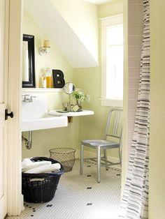 A chair in the bathroom!