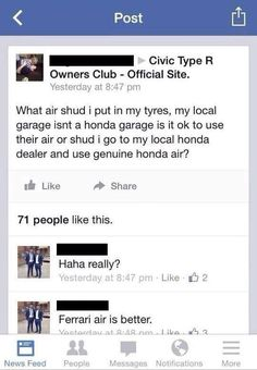 And this cautious Honda Civic driver. | 23 People Who Shouldn't Be Allowed To Ask Questions