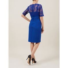 Buy Kaliko Lace and Jersey Dress, Colbalt, 10 Online at johnlewis.com