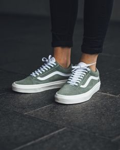 green vans #shoes #vans #sneakers