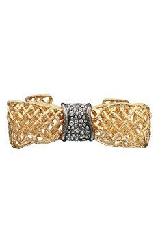 NEW Alexis Bittar Pave Bow Cuff Bracelet. Get the lowest price on NEW Alexis Bittar Pave Bow Cuff Bracelet and other fabulous designer clothing and accessories! Shop Tradesy now