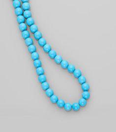 Turquoise Bead Necklace of sleeping beauty mine in Arizona 3-4000 usd