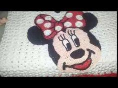 Minnie ou mickey em crochê parte 2 rosto - YouTube