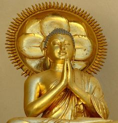 "Westerners associate this gesture with prayer, but in Buddhism, the anjali mudra represents ""suchness"" (tathata) -- the true nature of all things, beyond distinction."