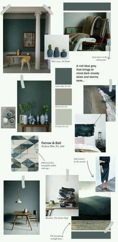 Farrow & Ball collage - Inchyra Blue Top ideas on how to use this stunning colour. Farrow And Ball Inchyra Blue, Up House, Blue Bedroom, Farrow Ball, Colorful Interiors, Interior Inspiration, Kitchen Paint, Design Kitchen, Kitchen Ideas
