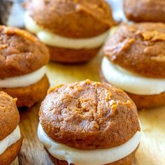The classic New England dessert gets an update with pumpkin, spices, and maple! This Pumpkin Whoopie Pies with Maple Cream Cheese Frosting recipe is the perfect fall dessert! Pumpkin Whoopie Pies, Pumpkin Pie Cheesecake, Cheesecake Recipes, Pie Recipes, Fall Recipes, Snack Recipes, Keto Snacks, Dessert Recipes, Cooking Recipes
