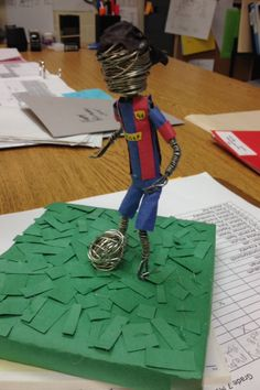 """""""Ronaldinho"""" Hero Wire Sculptures."""