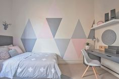 I thought it was a long shot when I suggested to paint triangles on the wall to my client but much to my surprise she ...