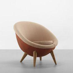 Jean Royère  Oeuf Grande lounge chair