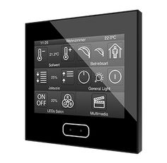 Capacitive touch panel with a display Smart Home Steuerung, Smart Home Control, Smart Home Security, Light Switches And Sockets, Best Home Automation, Smart Home Appliances, Best Gaming Laptop, Camera Reviews, Dream Home Design