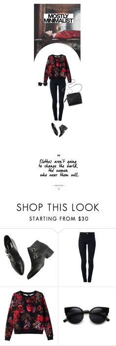 """""""[051] """"Some ghosts are so quiet you would hardly know they were there.""""  ― Bernie Mcgill, The Butterfly Cabinet"""" by dr-amat ❤ liked on Polyvore featuring STELLA McCARTNEY, Monki, Serfontaine, 3.1 Phillip Lim, contest, red, redandblack, ankleboots and contestentry"""
