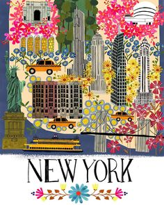 #newyork #illustratedmap #bigapple by anisamakhoul