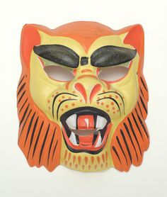Small Lion Plastic Vintage Collegeville Ben Cooper Halloween Mask | eBay