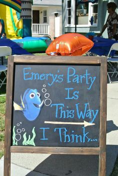 Finding dory party sign More