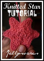 Knitted Star Tutorial #knitting