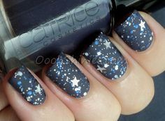 Grey/Silver Stars -Catrice How I Matt Your Mother with I Love Nail Polish Once Upon A Starry Night and Essence Matt