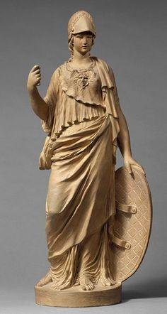 Minerva Terracotta statue - by Claude Michel, 1766