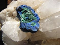 Rare Natural Azurite And Malachite Nodule by CrystalCreek on Etsy, $29.00