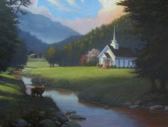 "~ ""Little Country Church"" ~ by Jeremy Sams"