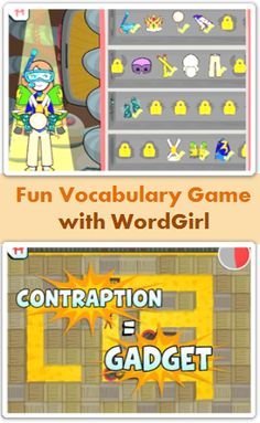 Fun Vocabulary Games with WordGirl, with WordGirl Superhero Training, kids in elementary school learn vocabulary while playing games with WordGirl.